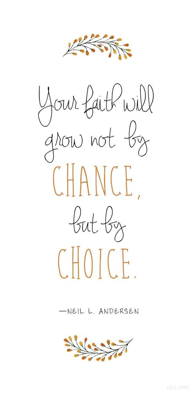 Faith by choice