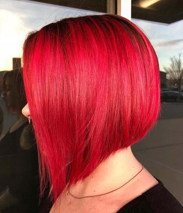 23 Red And Black Hair Color Ideas For Bold Women Page 2 Of 2 Stayglam Bob Hairstyles Long Bob Hairstyles Bob Hairstyles For Thick