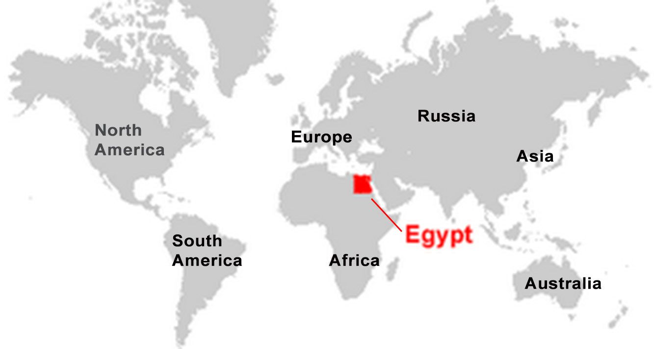 Ancient Egypt Map EgyptAbout Within World Justtravels Info ...