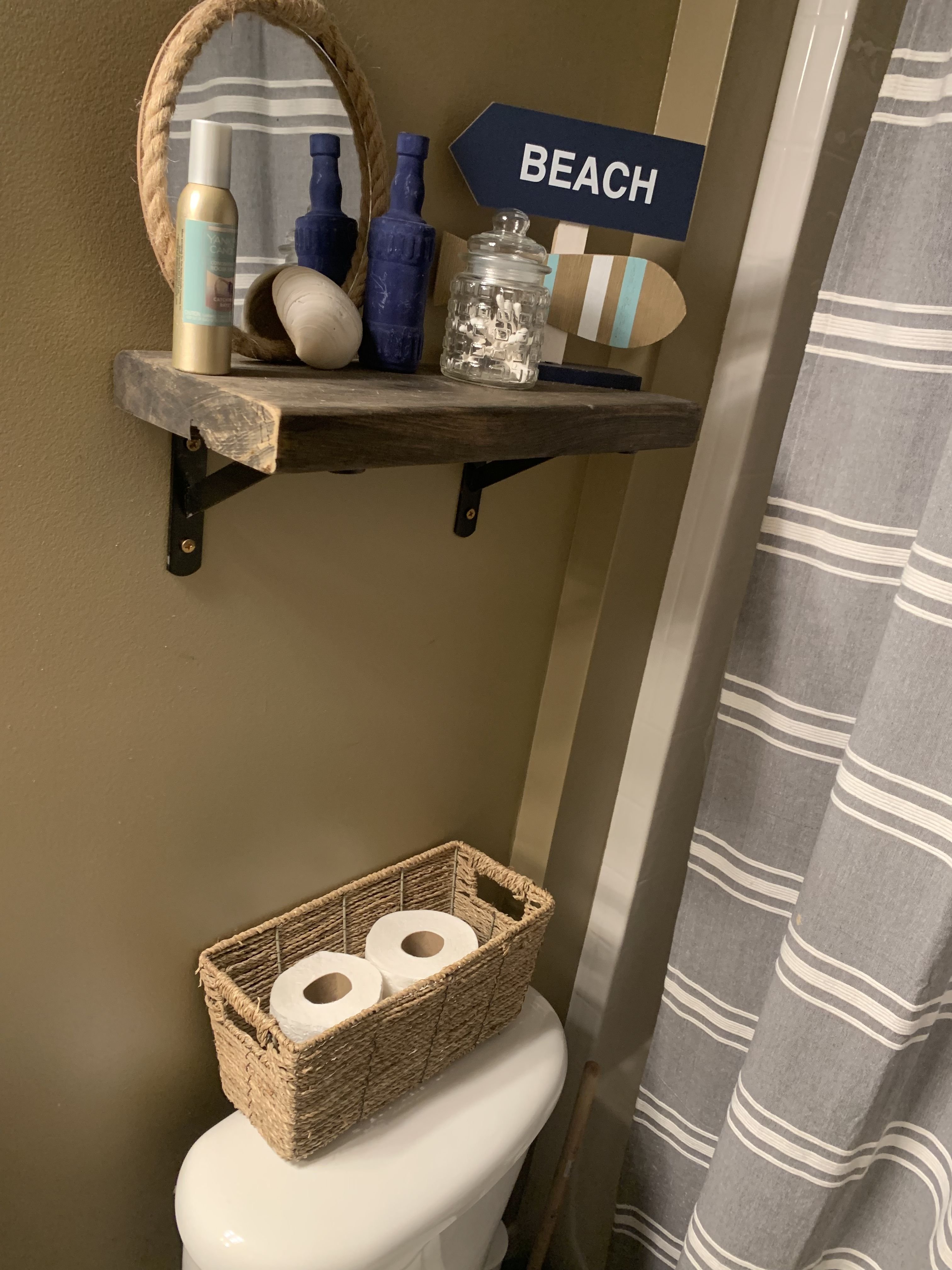 Driftwood Bathroom Shelf Driftwood Bathroom Bathroom Shelves Shelves