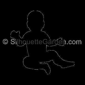 Baby Silhouette Baby Silhouette Silhouette Silhouette Vinyl