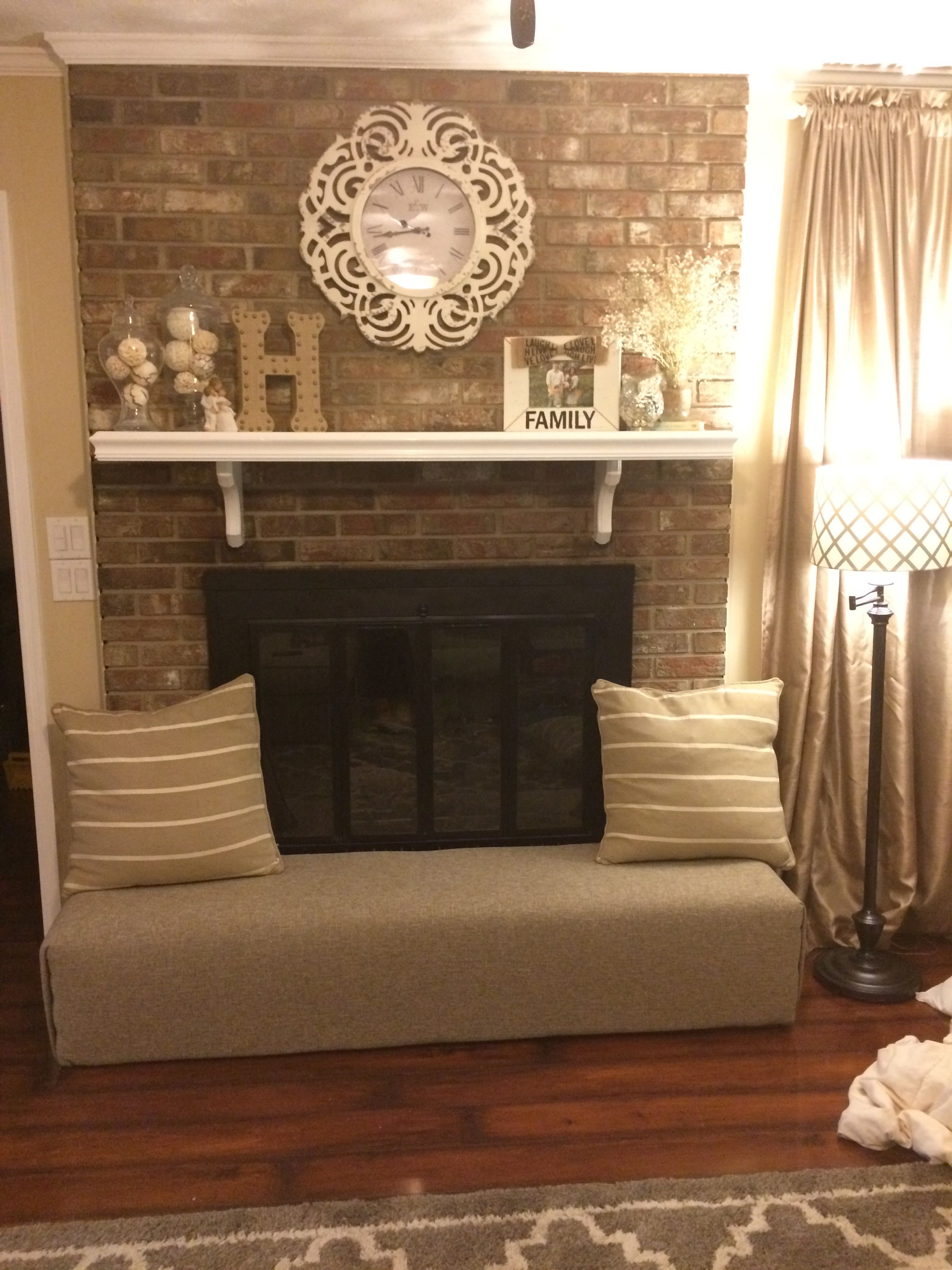 Fireplace Hearth Cover Baby Proof And Extra Seating Home Sweet