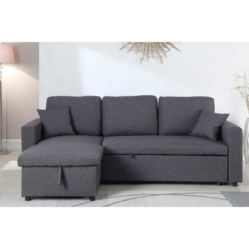 Vernita 87 Reversible Sleeper Sectional Sectional Sofa Couch