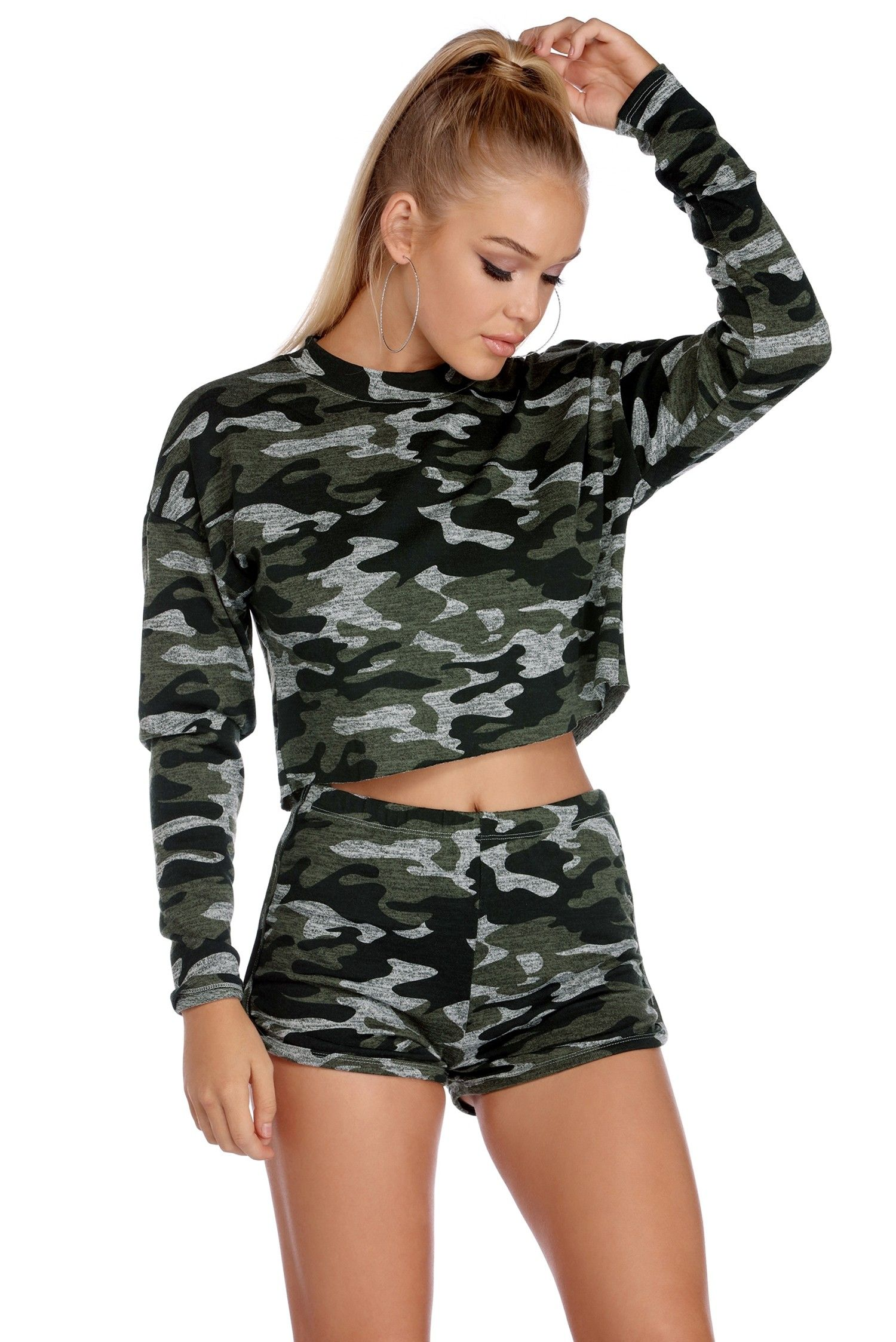 1c3f9b7037e9 CLEARANCE- Cozy In Camo Crop Top in 2019 |