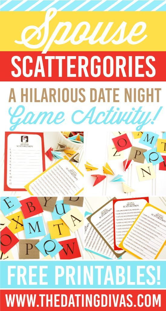 Spouse Scattergories Game Night Date Idea Date Nights Dates And