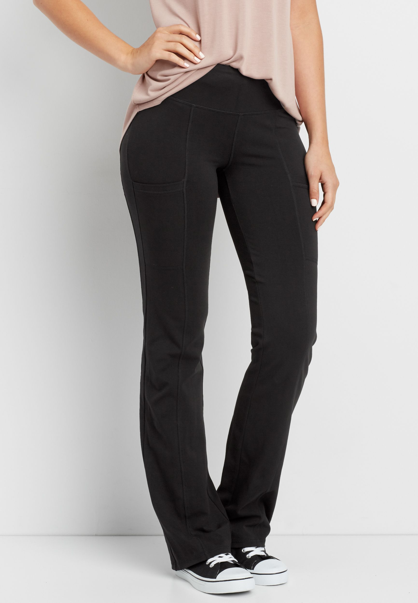 Bootcut Yoga Pant With Side Pockets Original Price 29 00 Available At Maurices Yoga Pants Clothes Bootcut [ 2500 x 1732 Pixel ]