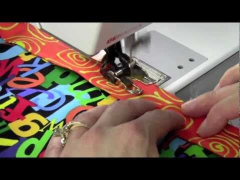 Double Fold Bias Tape - YouTube | Binding Quilt | Pinterest ... : easy quilt binding by machine - Adamdwight.com