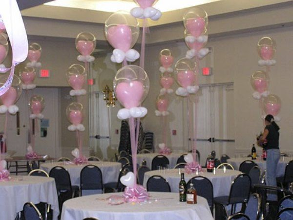 Baby shower balloon decorations baby shower decoration for Baby shower balloon decoration ideas