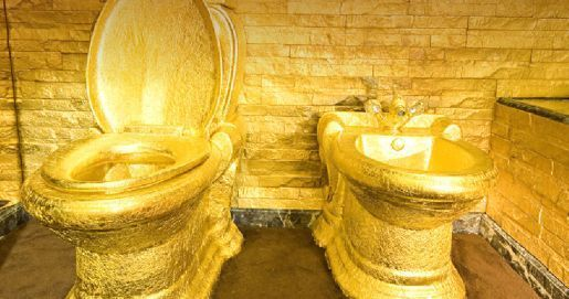 toilet made of gold. Swisshorn Gold Palace  really gold hotel It is considered that one of the most treasured desires any person opportunity to eat and sleep on First Class all Way Royal Thrones Pinterest