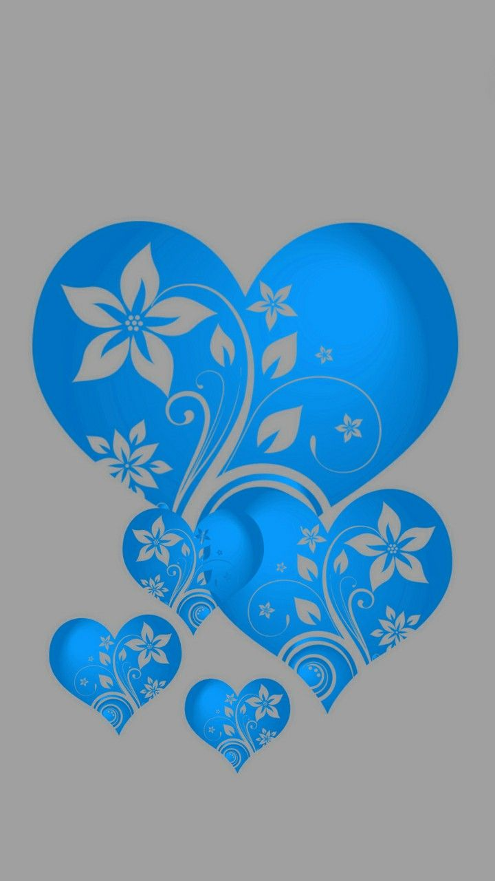blue hearts hearts in 2018 heart wallpaper heart love heart images