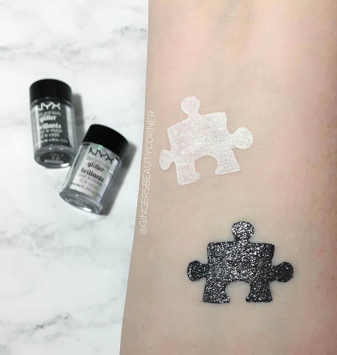 Nyx Cosmetics Canada glitters ! black and white styled