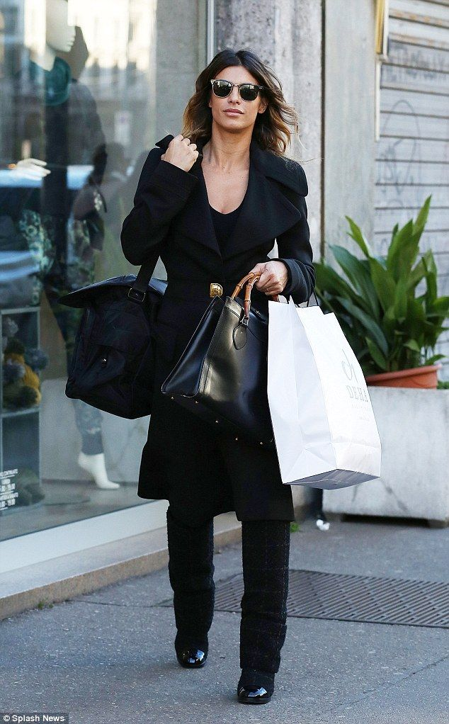 Back to black: The the 37-year-old put on a stylish display as she stepped out in Milan, f...