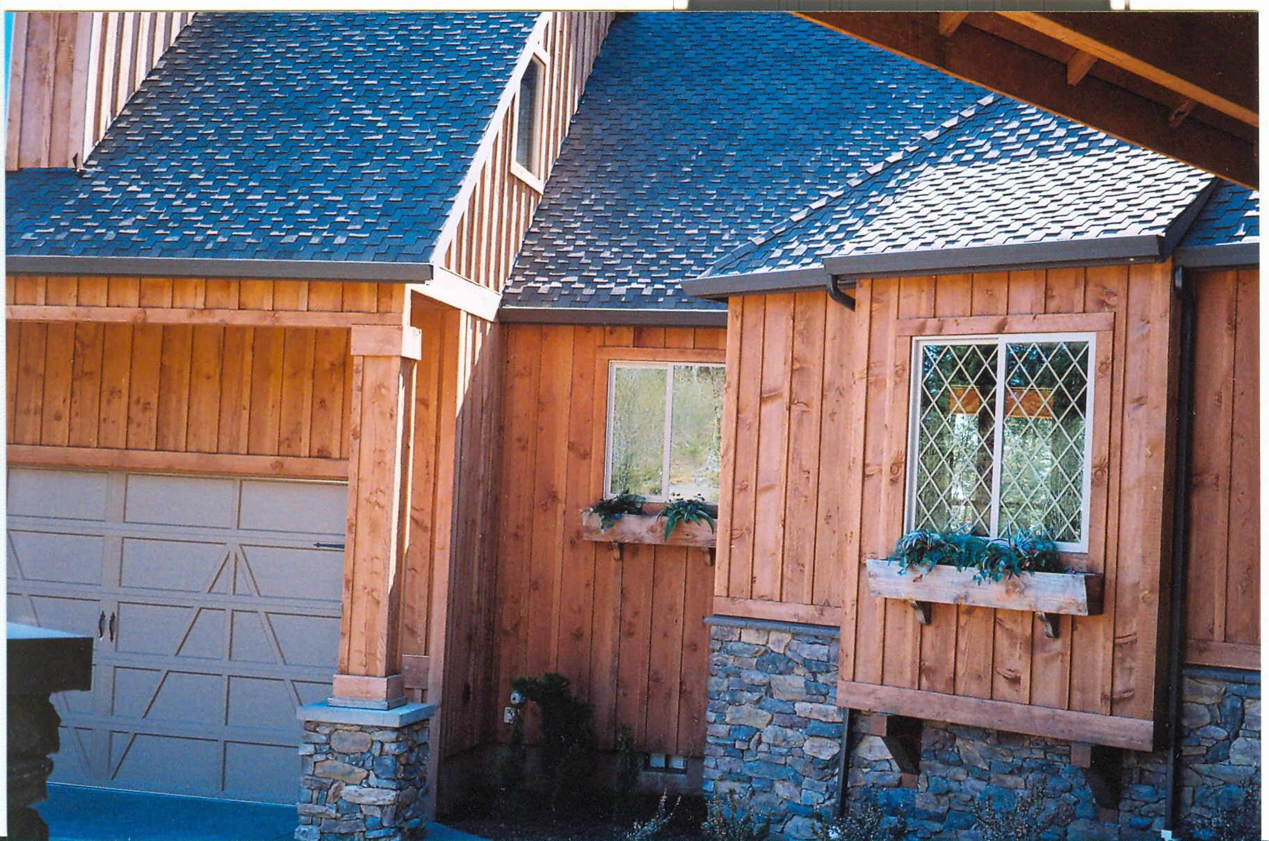 Click for larger image of this board and batten siding for Homes with wood siding