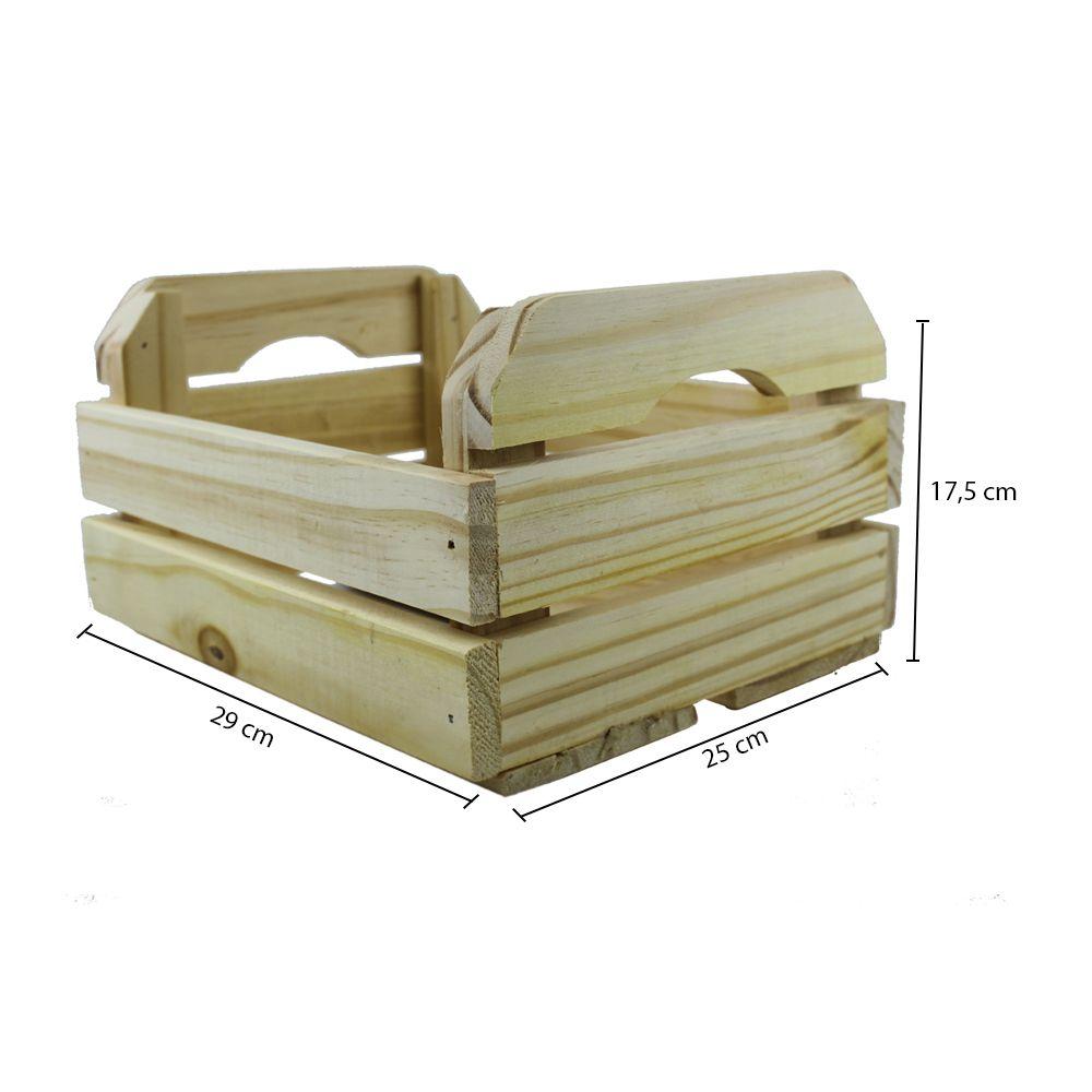 Caixote De Madeira De Pinos Tamanho 25 X 17 5 X 29 Cm