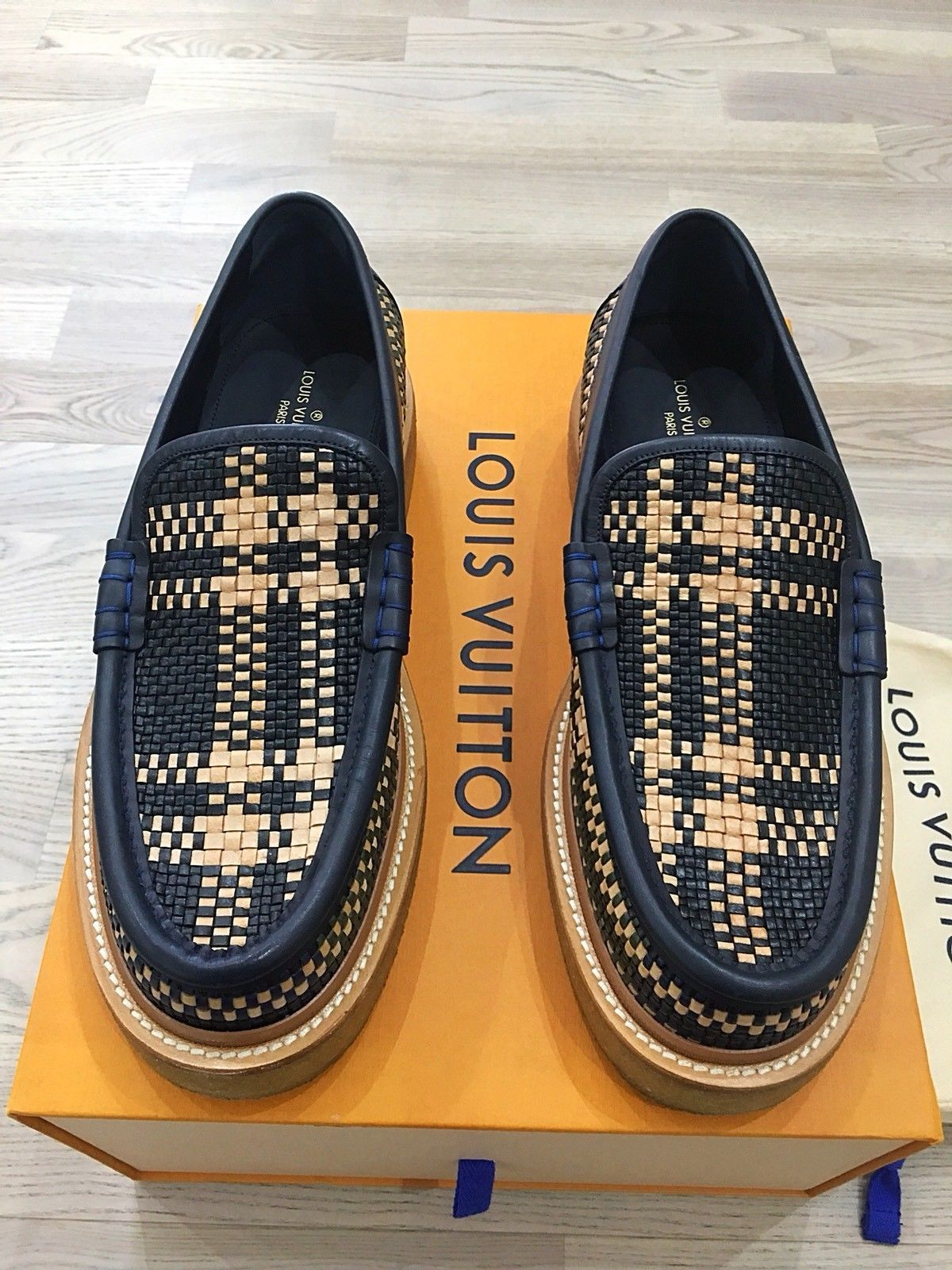 bfbb212d505 Genuine Rare Louis Vuitton Woven Men Loafer Moccasin UK9 EU43 US10 ...