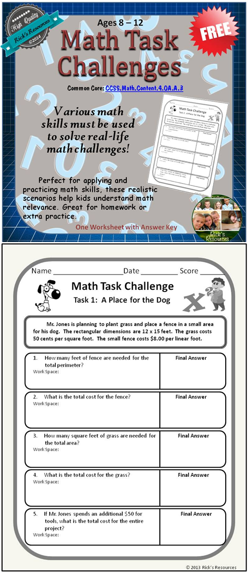 These Real Life Math Challenges Require A Variety Of Math Skills To Solve These Challenges Are Perfect For Applying And Pra Math Challenge Math Real Life Math