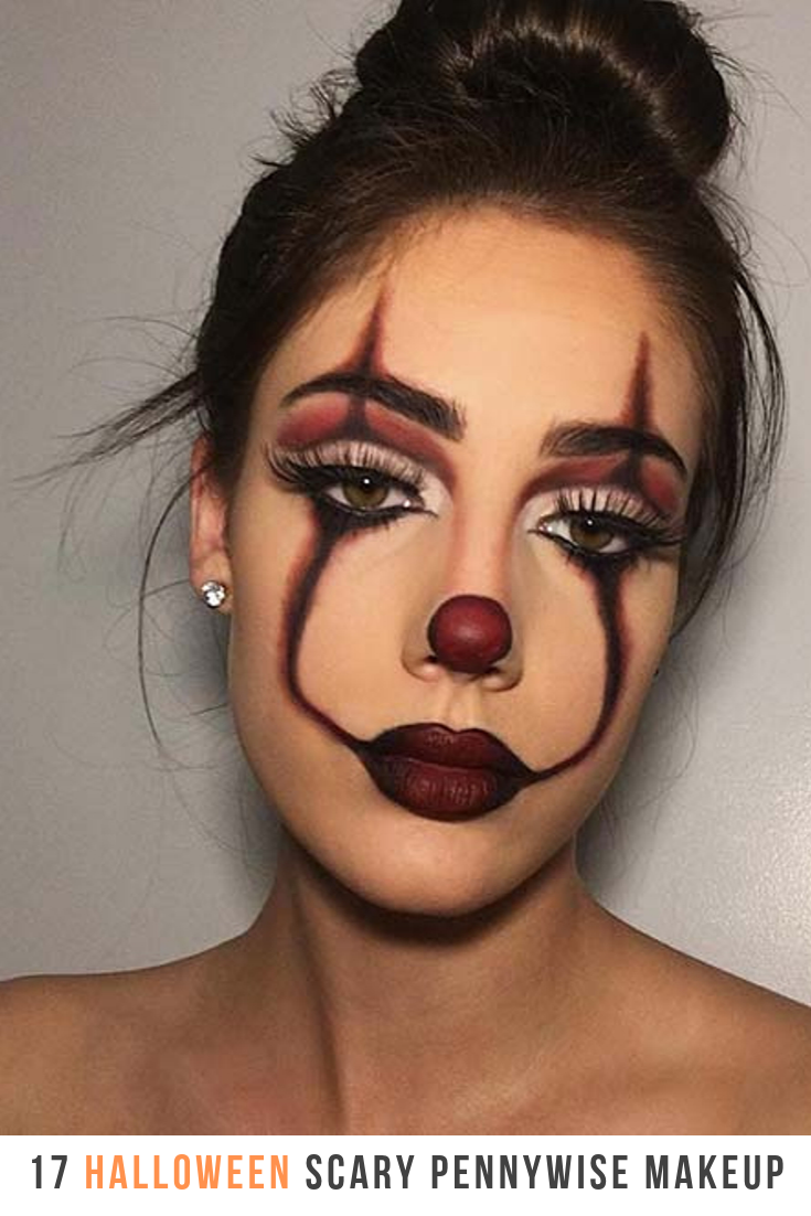 17 Scary Pennywise Makeup For This Halloween –  17 Scary Pennywise #Makeup For T…