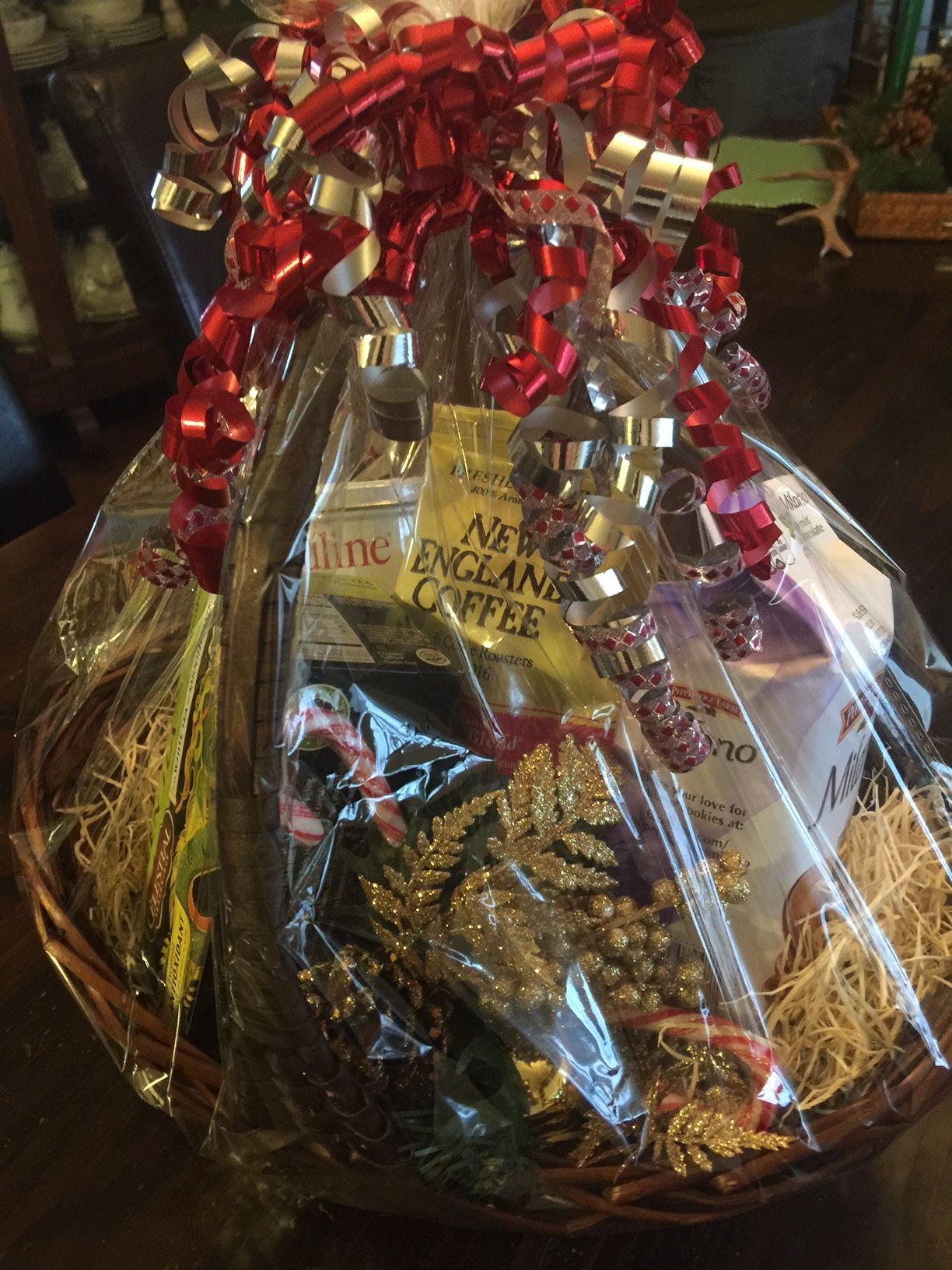 Coffee and tea basket tea gift baskets