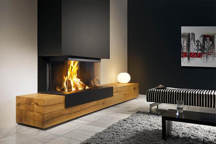 Una puerta de cristal para la chimenea es la mejor opci n para disfrutar del calor y el placer - Las mejores chimeneas ...