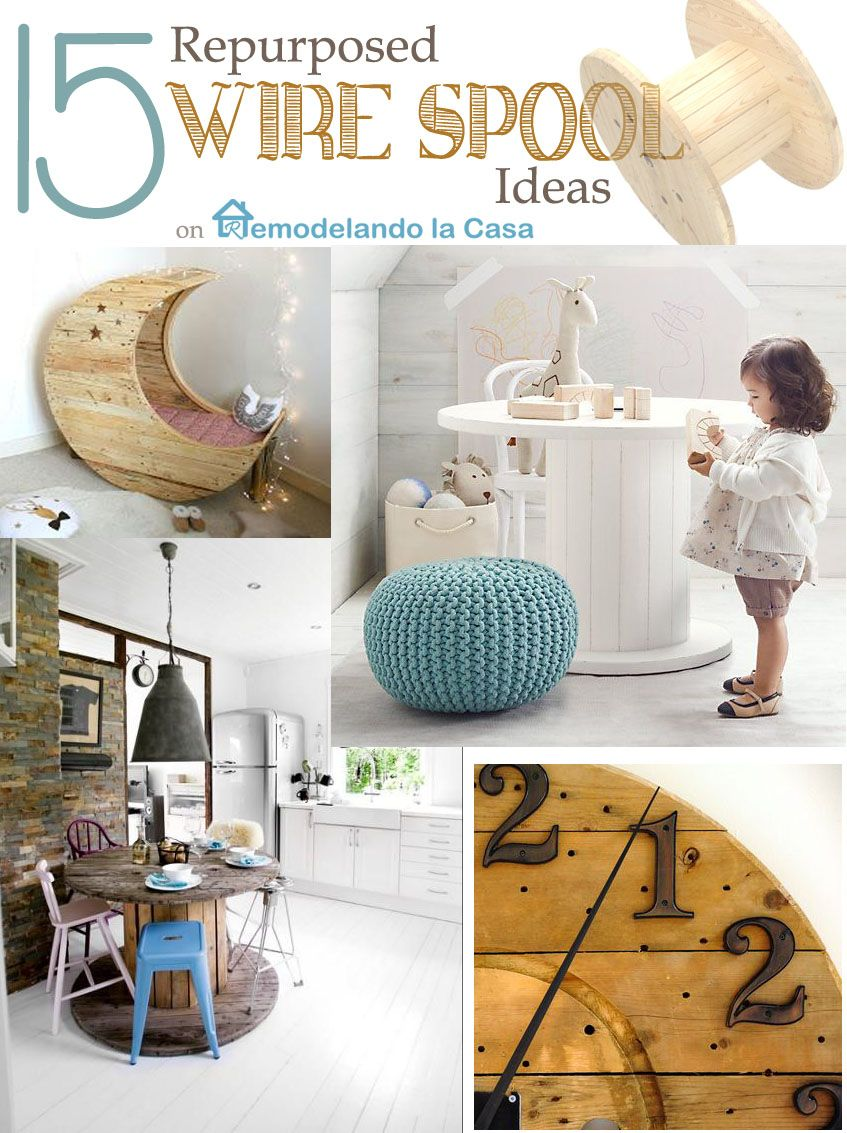 15 Repurposed Wire Spool Ideas | Wire spool, Repurposed and Pallets