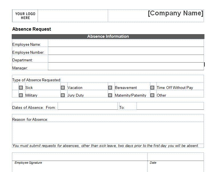 Free Employee Vacation Request Form Forms Pinterest Vacation - requisition form in pdf
