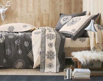ambiance tendresse et cocooning pour cette parure de lit pleine de d tails chaleureux becquet. Black Bedroom Furniture Sets. Home Design Ideas