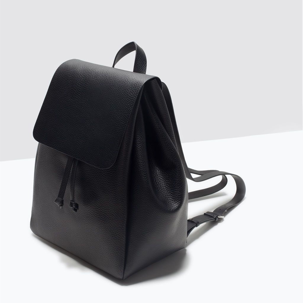Zara Uk En Collection Aw15 Trf Bags Backpack With Foldover Flap C269223p2819380 Html
