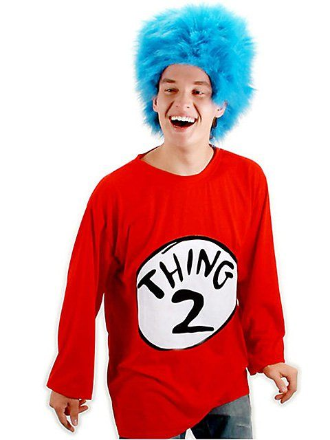Thing 1  Thing 2 Costume Kit Dr Seuss Party Ideas Pinterest - dr seuss halloween costume ideas