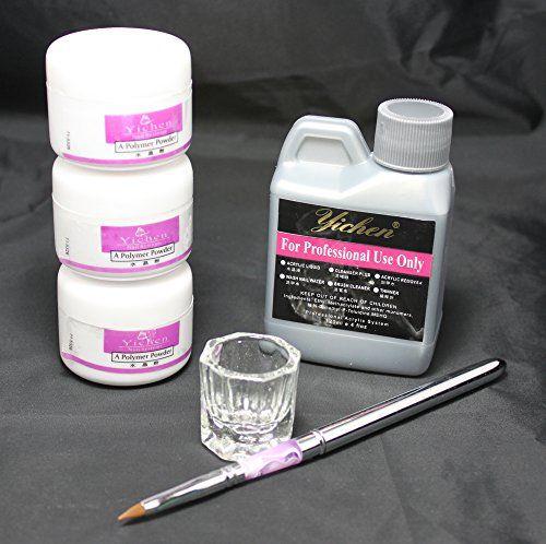 Us Seller 6 In 1 Nail Art Kit Acrylic Liquid Powder Pen Dappen