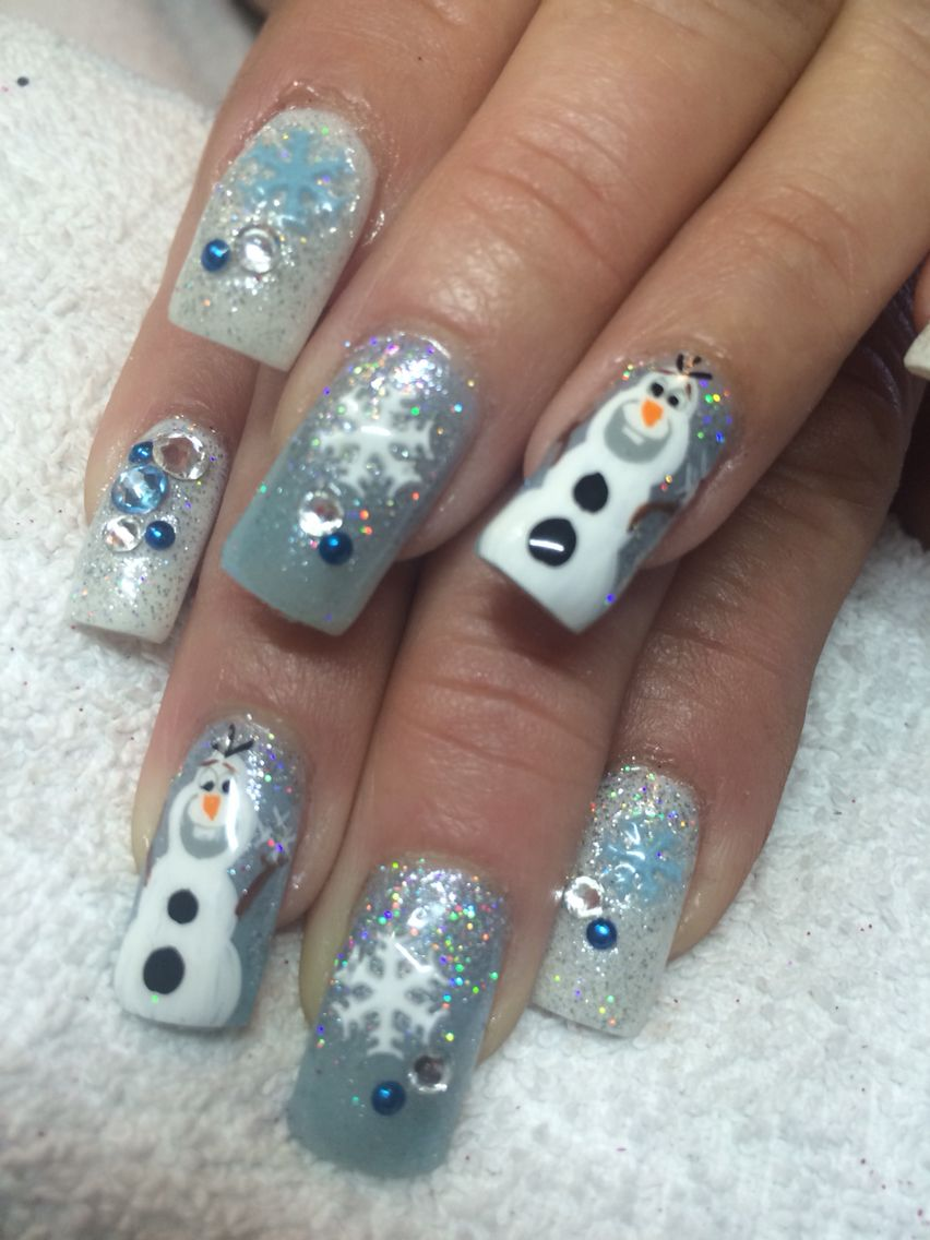 ❄ Olaf nail art done at The Lacquer Beauty Lounge | Gel Nails ...