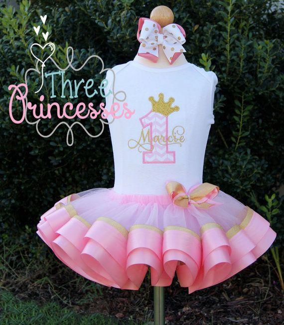 2aa8a5f16 Princess Birthay Crown Ribbon Tutu Set | Ballet | Tutú con cinta ...