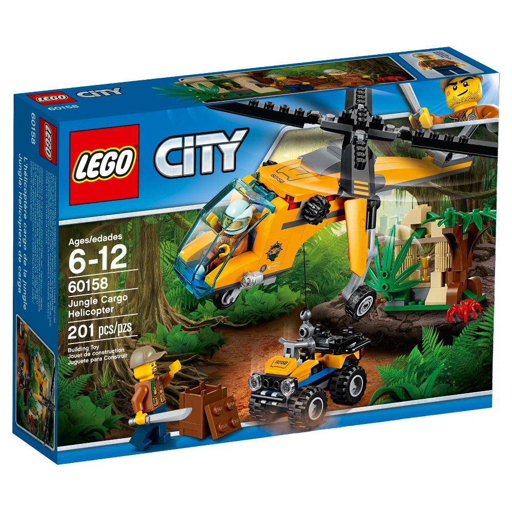 Pin lego 60032 city the lego summer wave in official images on - Lego City Jungle Explorers Jungle Cargo Helicopter 60158