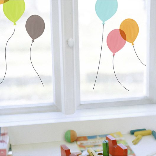 Sticker Ballons Decoration Fenetre Autocollants Pour Fenetres Deco Fenetre