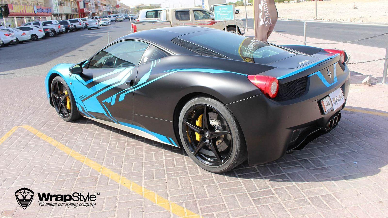Car sticker wrap singapore - Ferrari 458 Italia Design 04 Wrapstyle Car Wrap Foil By Wrapstyle