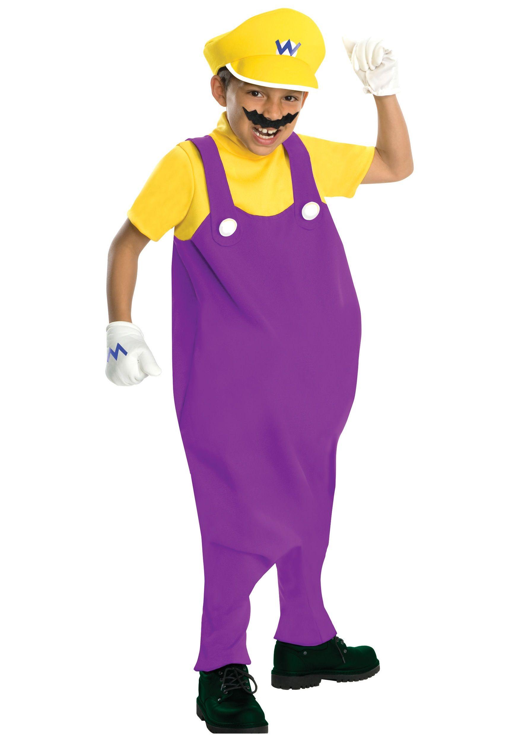 Deluxe Child Wario Costume   Wario costume, Costumes and Halloween ...
