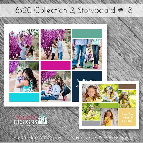 Instant Download 16x20 Storyboard Collection 2, Collage 18 - photography storyboard