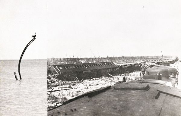 Damage To The Overseas Railway Following The 1935 Labor Day