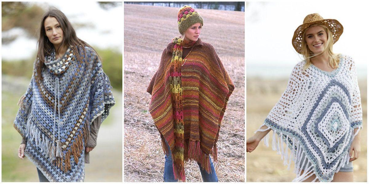 5 Cute Cloak – Poncho Crochet styles. Ponchos area unit terribly ...
