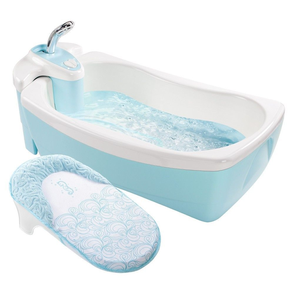 Summer Infant Lil Luxuries Whirlpool Bubbling Spa Shower Blue
