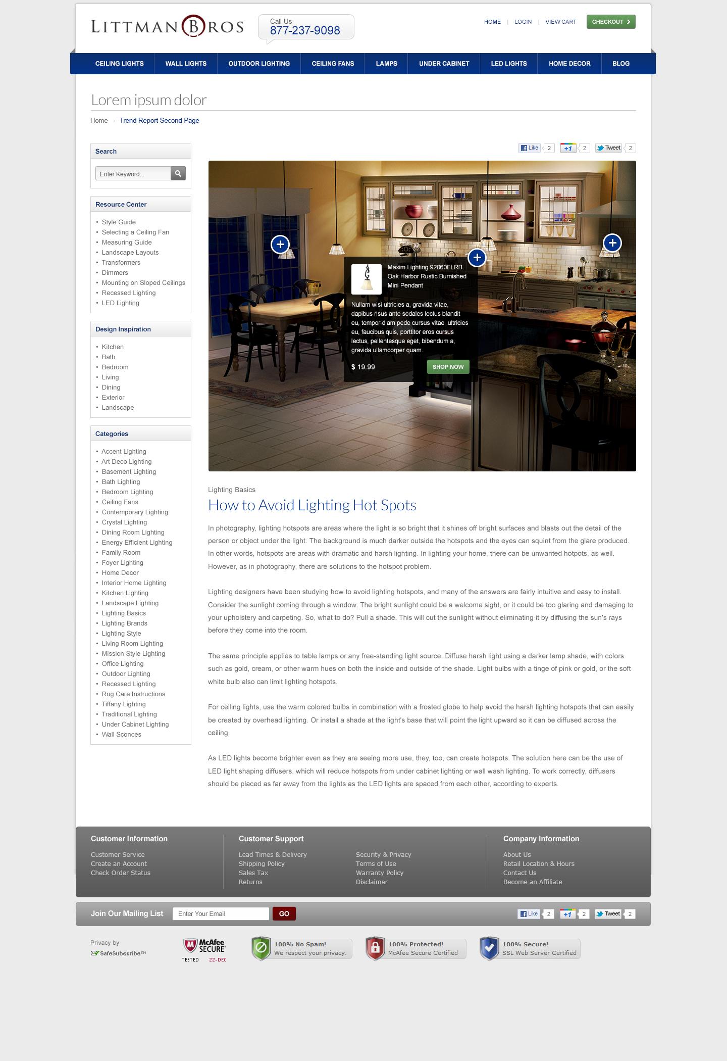 Littmanbros Com Responsive Blog Design Mockup To Match Ecommerce Site Ecommerce Design Responsive Blog Design Mockup Design