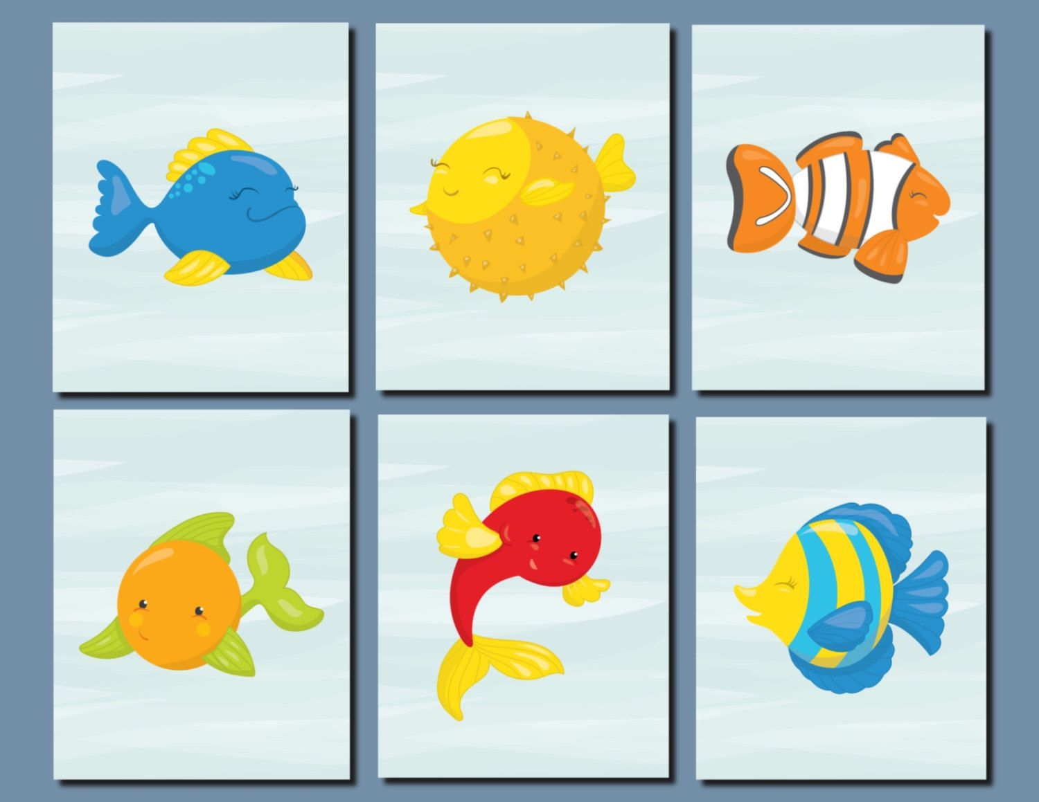 Bathroom Fish Decor Kids Bathroom Art Baby Girl Nursery Boy Nursery Decor Nemo