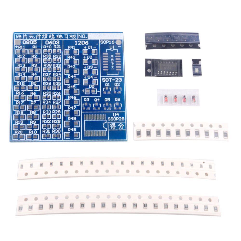 smt smd welding practice soldering training board diy kit arduino