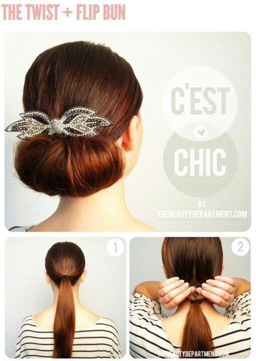 Twist & flip bun
