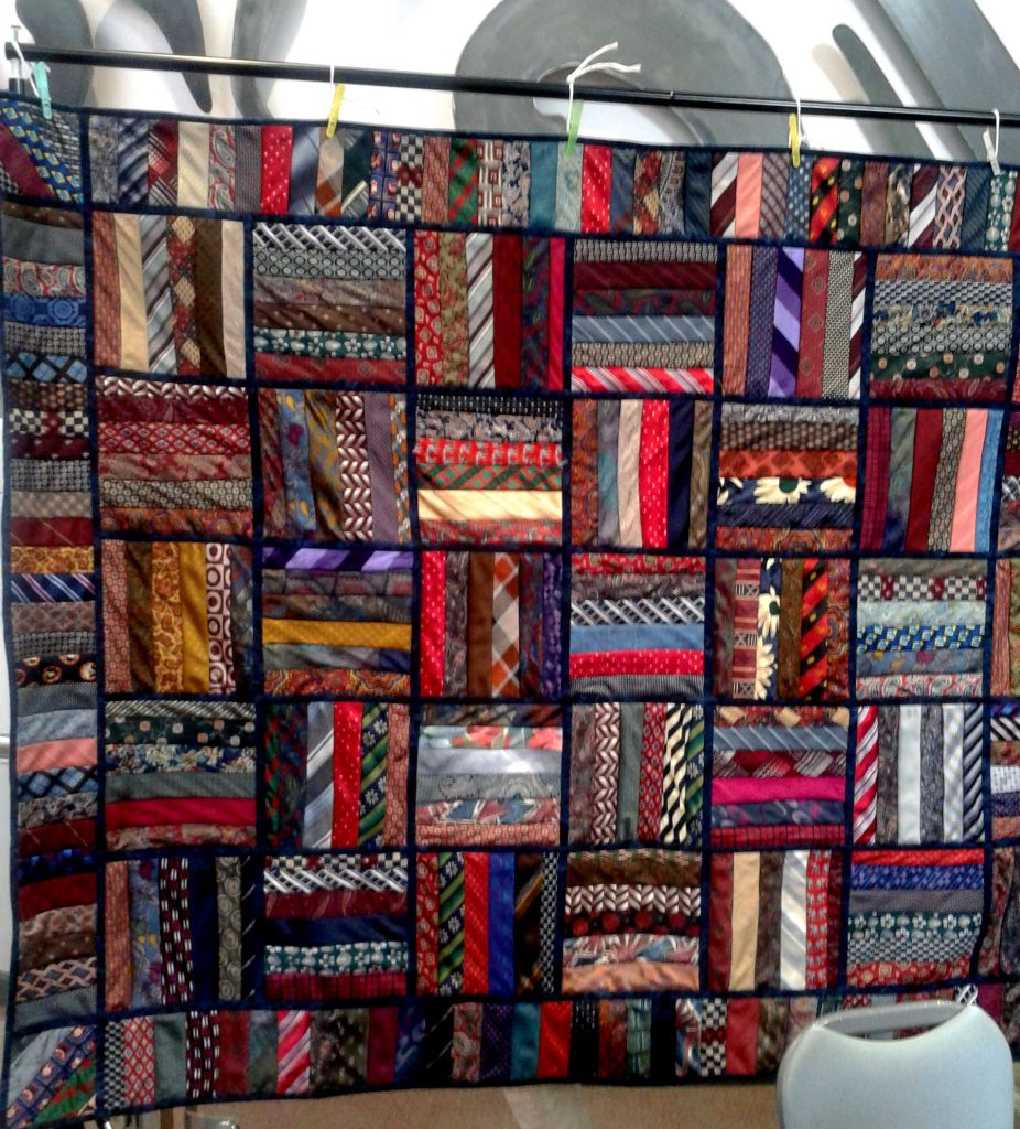 Recycling Men's Ties to Support Cancer Charity | Tie quilt, Silk ... : mens tie quilt - Adamdwight.com