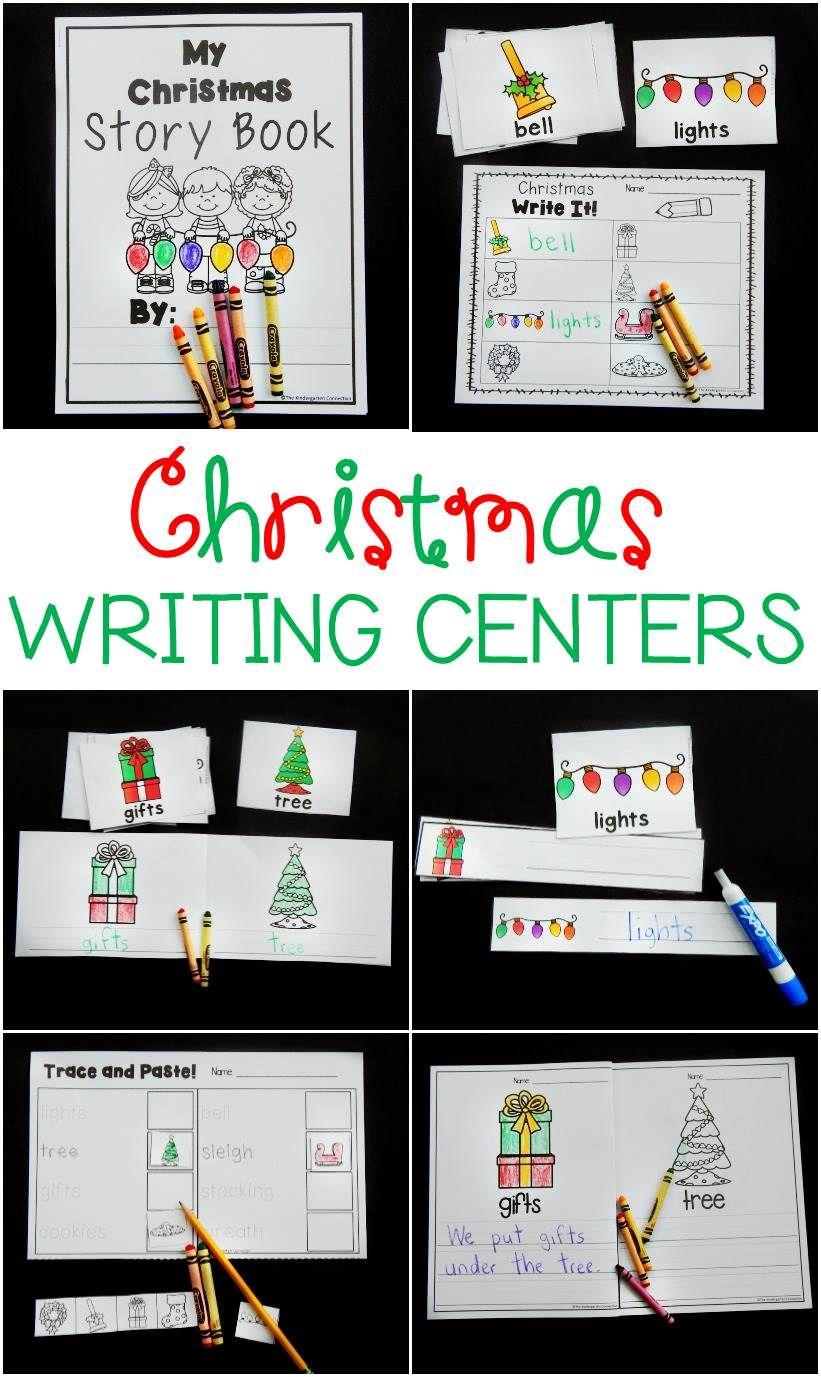 Christmas Writing Centers Christmas Writing Writing Center Kindergarten Christmas Activities [ 1377 x 821 Pixel ]