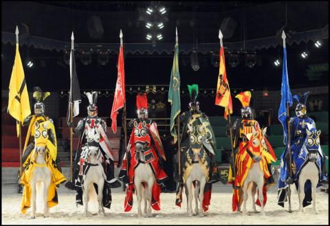 Experience a centuries-old age of honor and bravery, and watch epic battles of steel and steed during a medieval dinner show. From your ringside seat you'll marvel at this feast for the eyes and the appetite that's loaded with action, excitement, and fun! Anaheim; Buena Park 2-Hour Medieval Times Dinner and Tournament.
