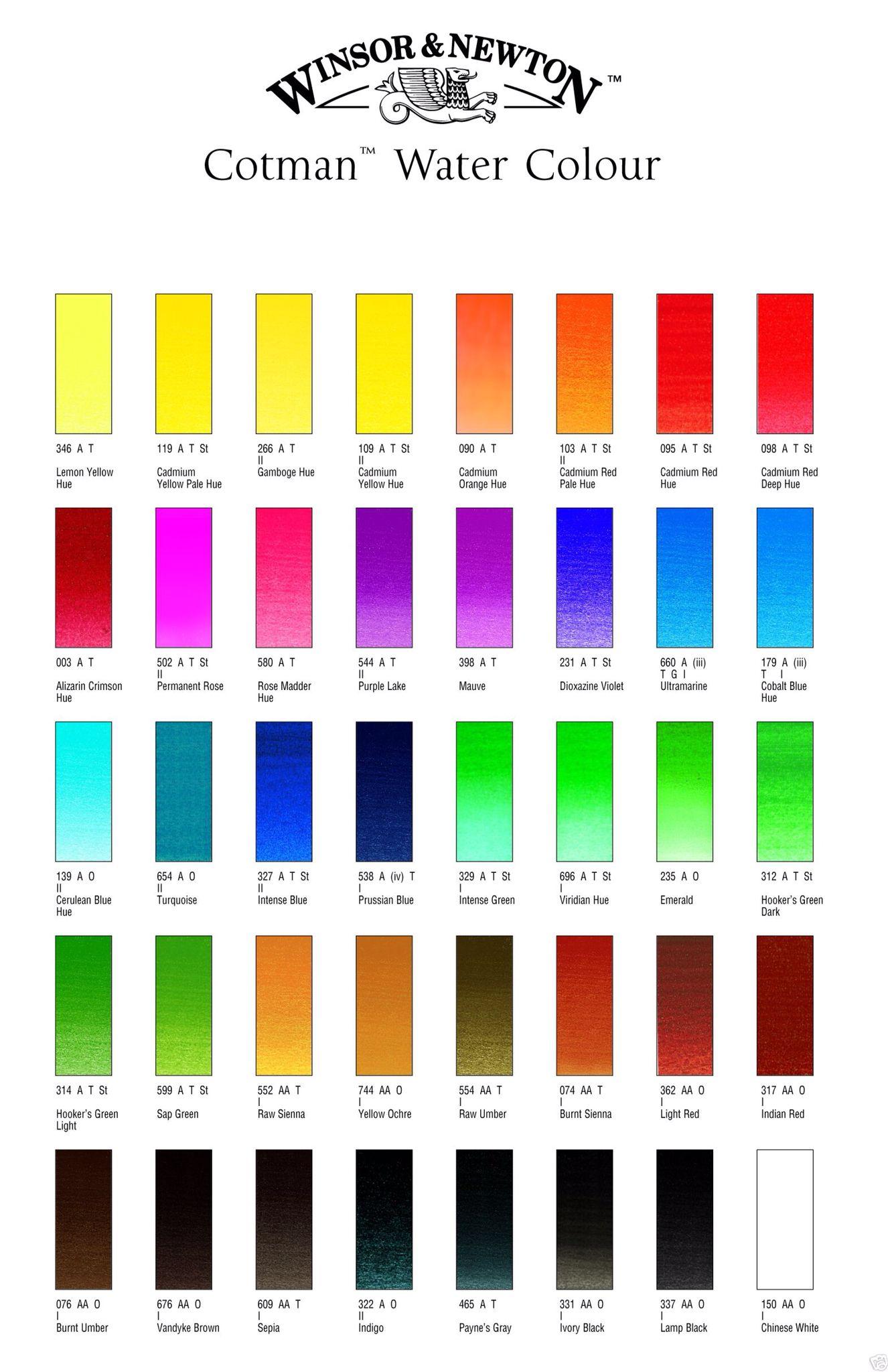 Winsor Newton Aquarellfarben 45 Napfe Aquarellfarben Aquarell