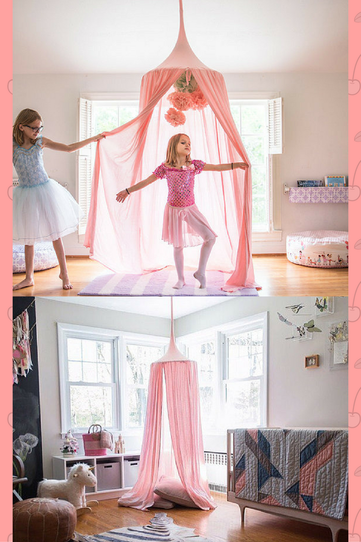 Pink Hanging Princess Tent Perfect Addition To Any Little Girls