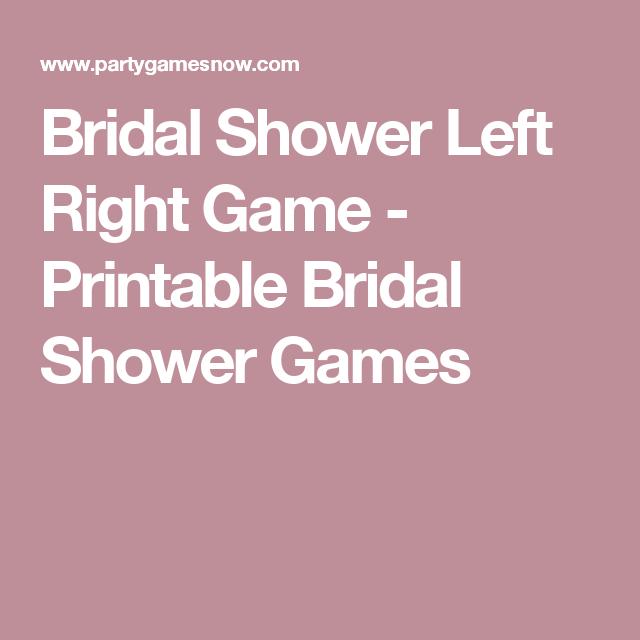 bridal shower left right game printable bridal shower games