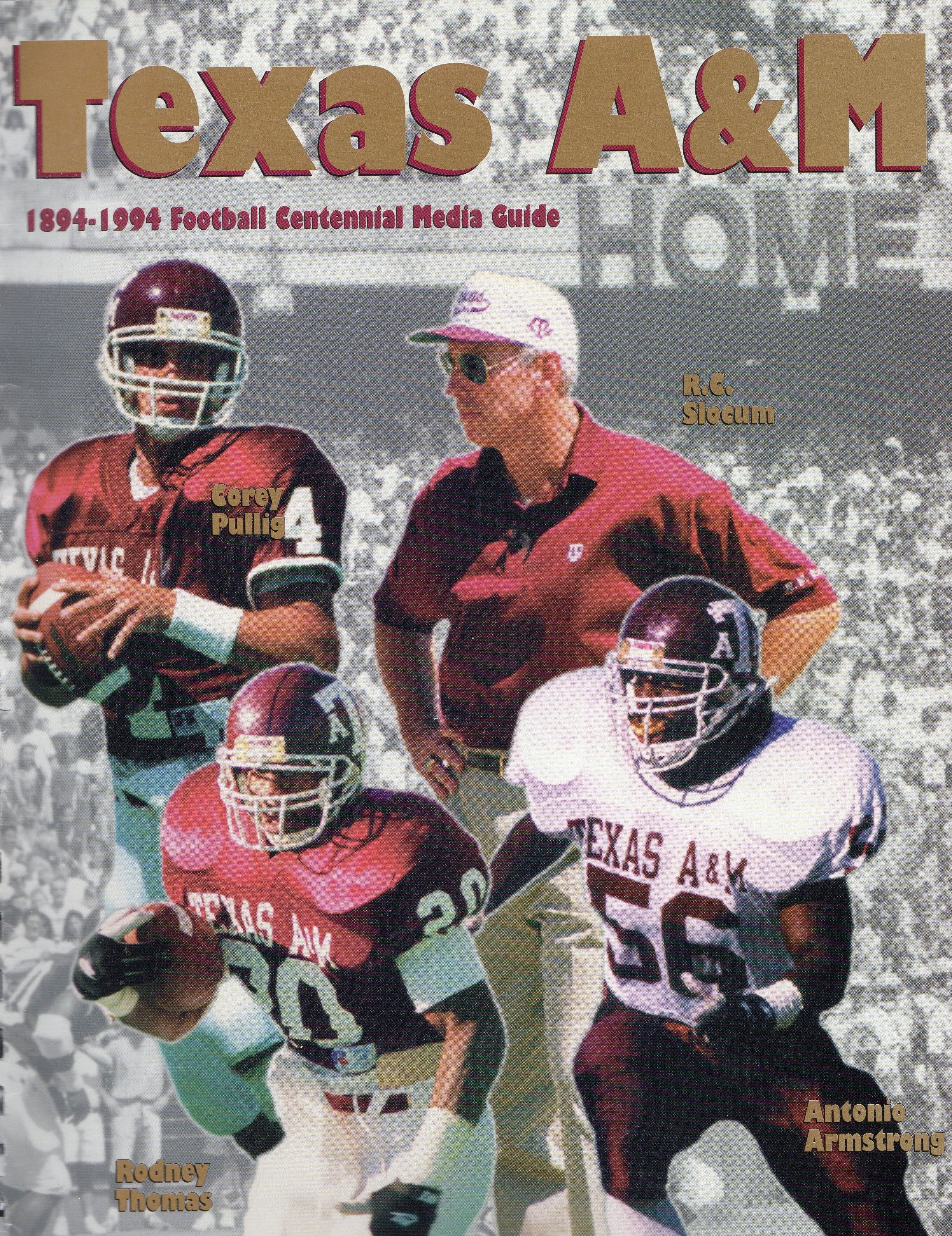 1994 Texas A M Aggies Football Media Guide Texas A M Texas Aggies Aggie Football